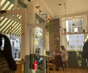 city, coffee shop, and life image