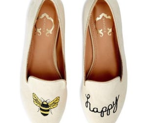 bee, flats, and shoes image
