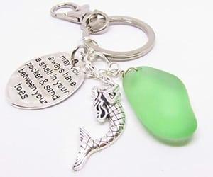 mermaid keychain, mermaid gifts, and stocking stuffer gifts image