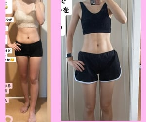 before and after, diet, and workout image