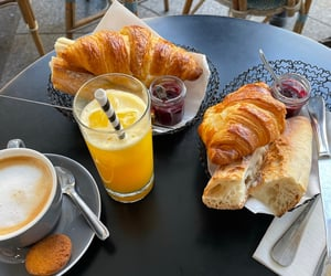 croissant, food, and paris image