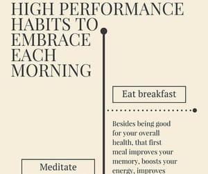 breakfast, meditation, and morning image