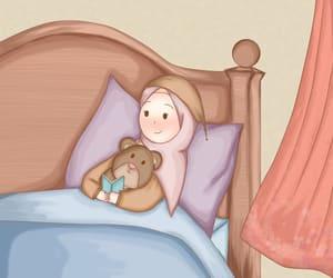 anime, muslim girl, and chibi image