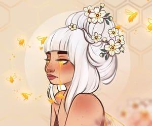 bee, digital art, and girl image