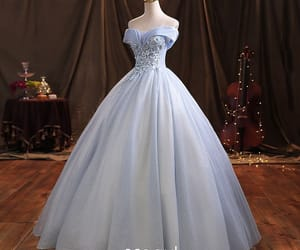 ball gown, elegant, and lace flower image