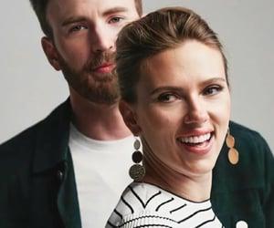 chris evans, crush, and Scarlett Johansson image