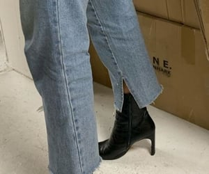 blue jeans, fashion, and boots image