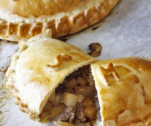 The Classic Cornish Pasty ┃ The Classic Cornish pasty recipe is Shortcrust pastry encasing a mixture of chopped beef and potato and swede folded over to the side to form a half moon or D shape and having no less than 17 and no more than 21 crimps.