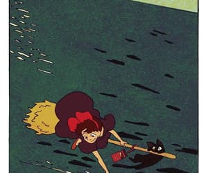 kiki's delivery service and 魔女の宅急便 image
