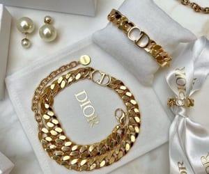 dior, fashion, and gold image