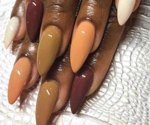 nail art, autumn nail art, and autumn gel nail art image