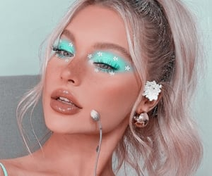 blond, turquoise, and flowers image