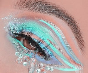 eyes, face, and turquoise image