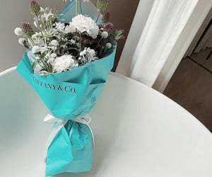 aesthetic, flowers, and tiffany & co image