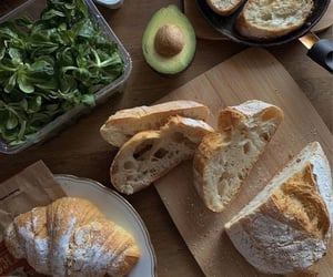 food, croissant, and delicious image