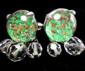 etsy, vintage earrings, and dangle earrings image