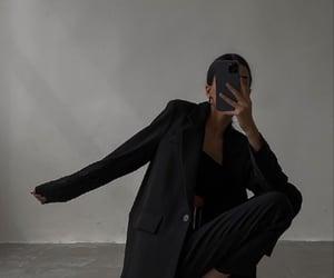 black suit, fashion, and suit image