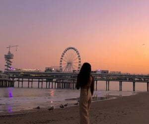 beach, hague, and lights image