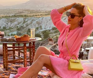 luxury lifestyle and pink dress image