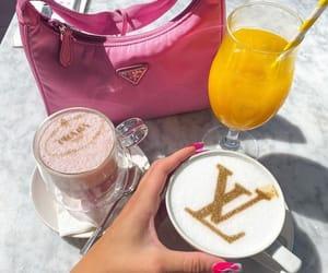 coffee, Prada, and prada bag image