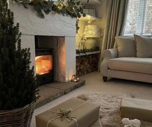 christmas, fireplace, and home image