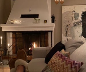cozy, winter, and fire image