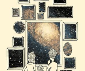 galaxy, art, and drawing image