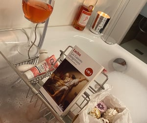 bath bombs, candles, and reading image