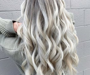beauty, hair, and platinum blonde image
