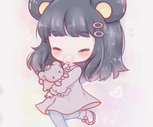 angel, anime girl, and plushie image