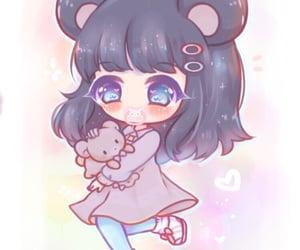 angel, anime girl, and little image