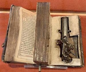 a bible, for francesco morozini, and doge of venice image