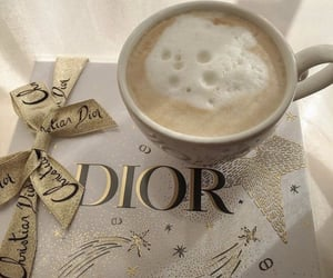 coffee, drink, and dior image