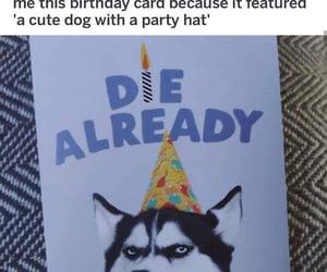 birthday, haha, and card image