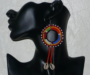 africa, earrings, and african jewelry image