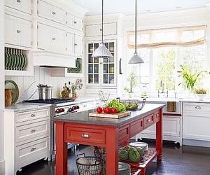 interior decorating, interior design, and red image