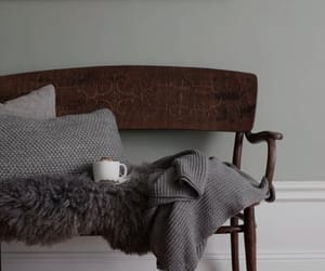 bench, grey, and home design image