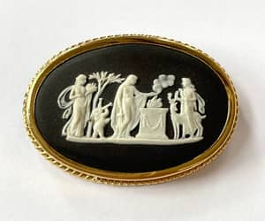 etsy, figural brooch, and wedgwood jewelry image