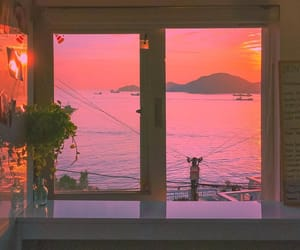 dawn, landscape, and orange image