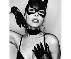 actress, black and white, and costume image