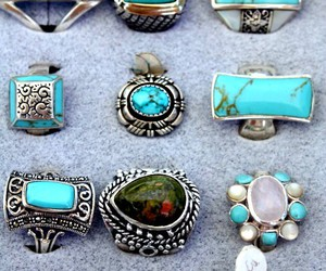 rings, blue, and turquoise image