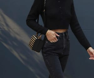 black cardigan, blogger, and fashion image