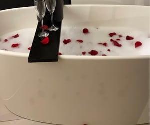 bath, champaign, and couple image