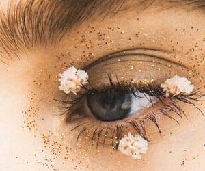 flowers, makeup, and eye image