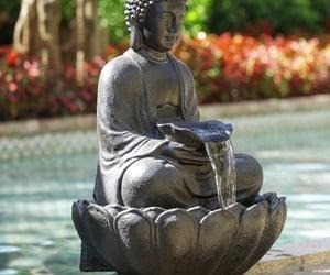 Buddha, garden, and decor image
