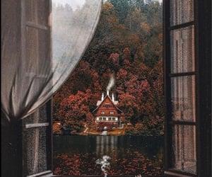 autumn colors, fall, and lake image