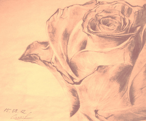 drawing, pencil, and sunset image