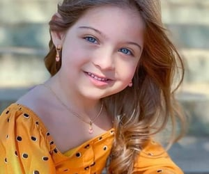 baby girl, hairstyle, and necklace image