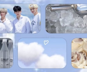 aesthetic, baby blue, and cover image