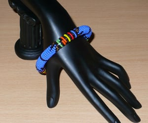 African, perles, and bracelet africain image